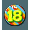 Afbeelding van Button 18 jaar