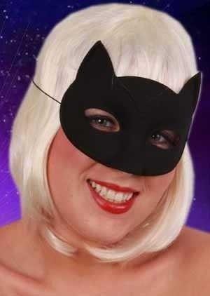 Oogmasker kat zwart