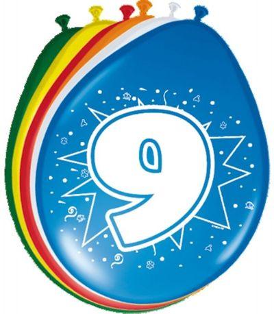 Ballonnen 9 jaar (30cm) 8st