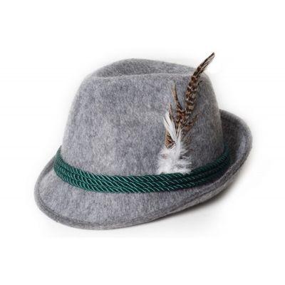 Oktoberfest hoed lichtgrijs Deluxe