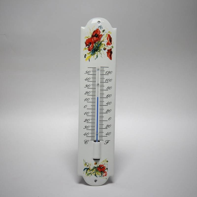 Emaille thermometer Klaproos
