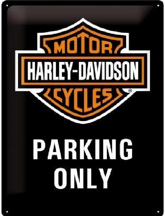 Harley Davidson parking only wandplaat