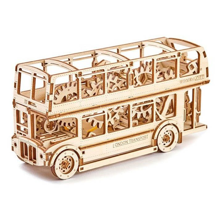 Wooden city Londen Bus