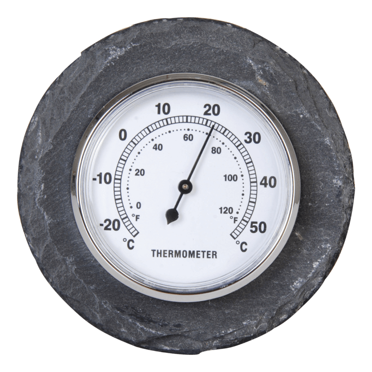 Thermometer rond leisteen - Outhings