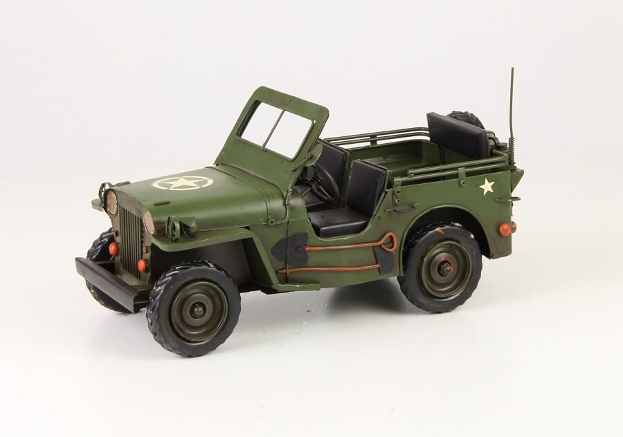 Miniatuurmodel Tin Leger Jeep
