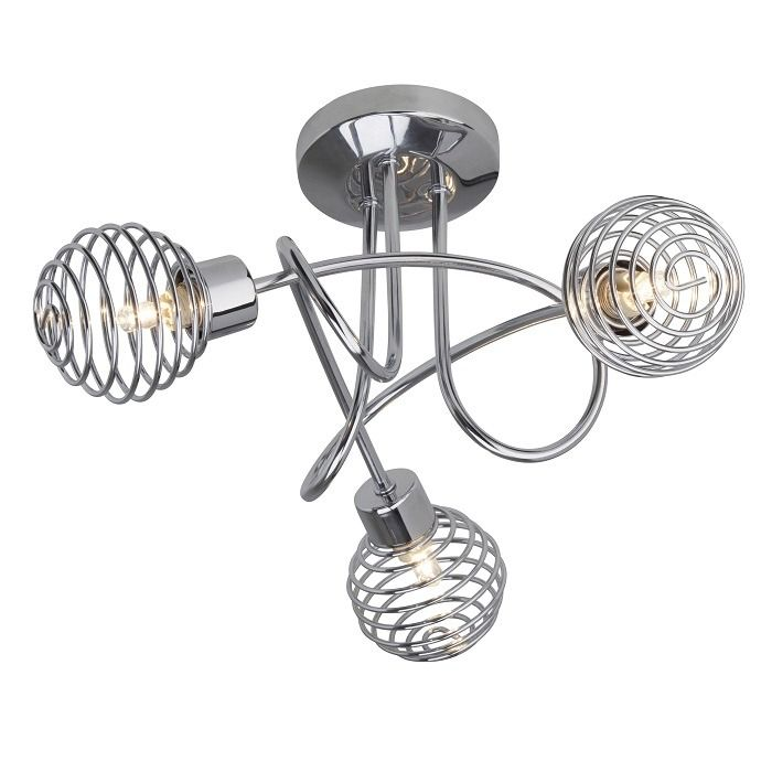 Plafondlamp Charlie 3 Lamps chrome - Brilliant