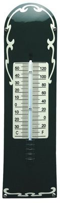 Thermometer Deco Groen - Crème