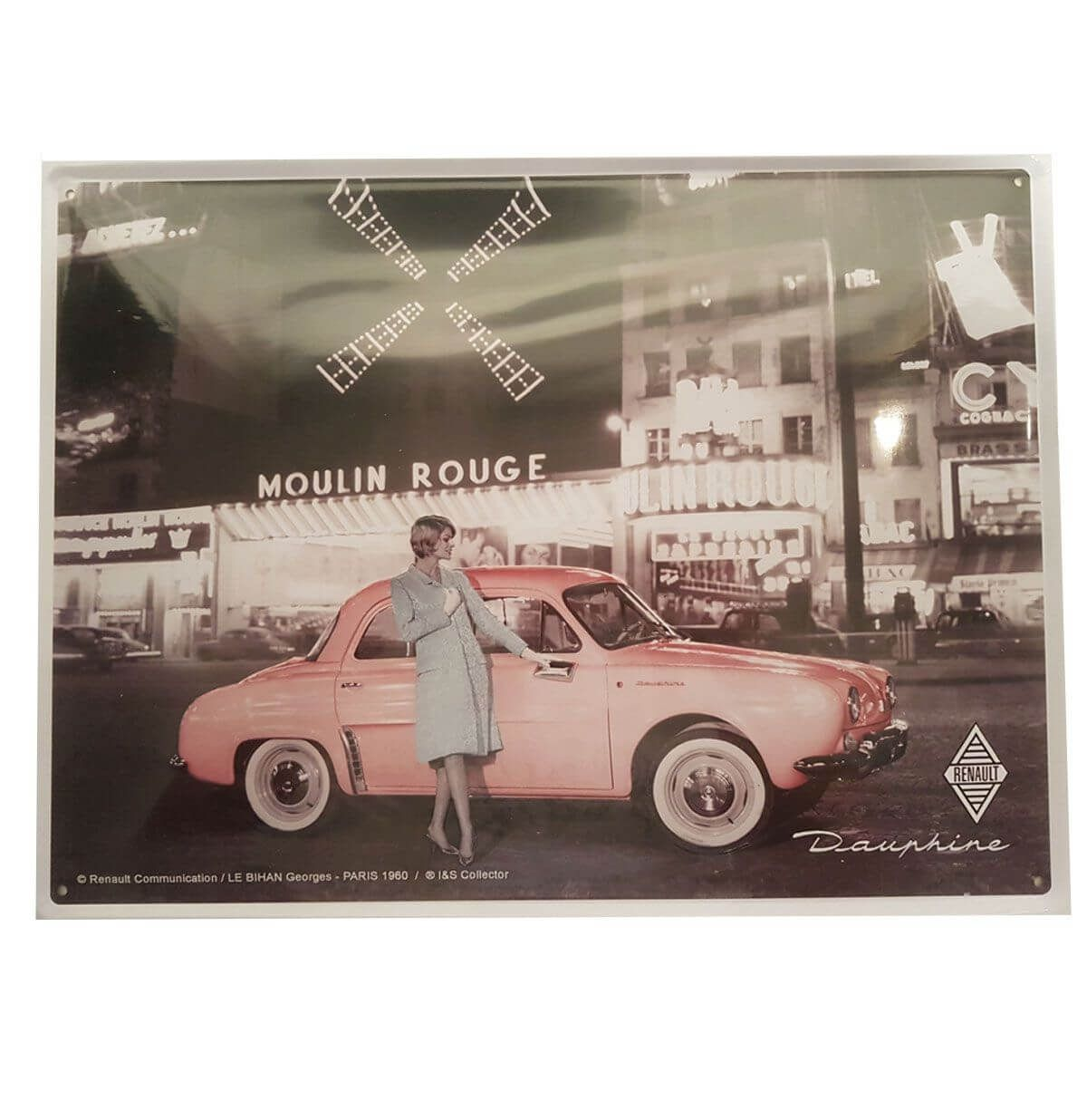 Wandplaat Renault Dauphine Moulin Rouge