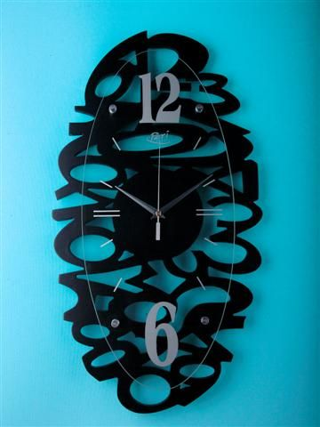 Wallclock numbers zwart / Periglass