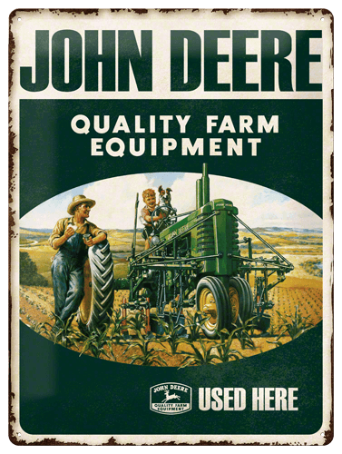 Wandbord John Deere Farm Equipment
