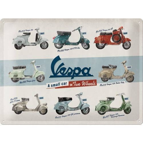 Wandbord tin sign Vespa models