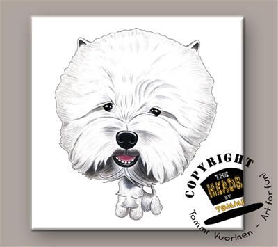 West Highland White Terrier tegeltje