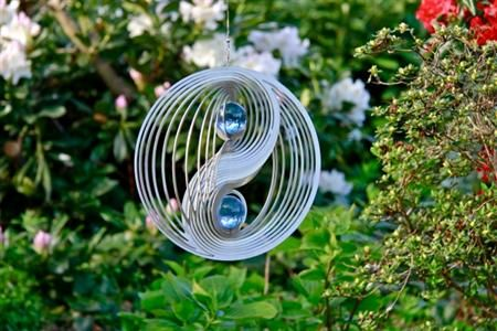 Wind spinner Yin Yang met 2 x 35 mm kogels
