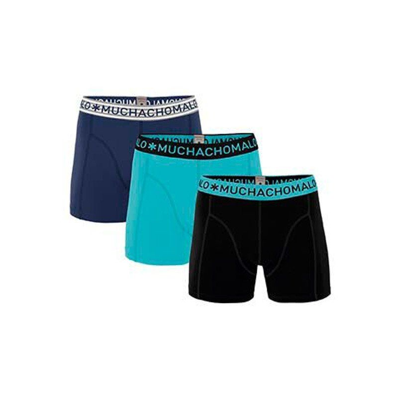 MUCHACHOMALO 3-PACK SOLID NAVY, TURQUOISE, BLACK