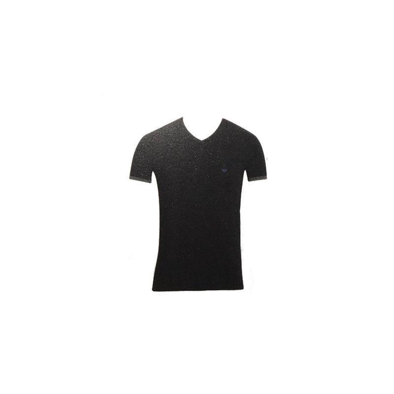 Emporio Armani T-shirt V-hals Black - Blue
