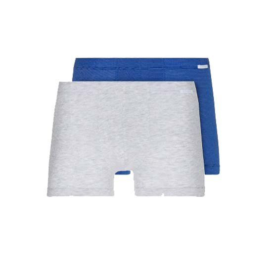 Schiesser 2-pack boxershorts xpress - grijs blauw