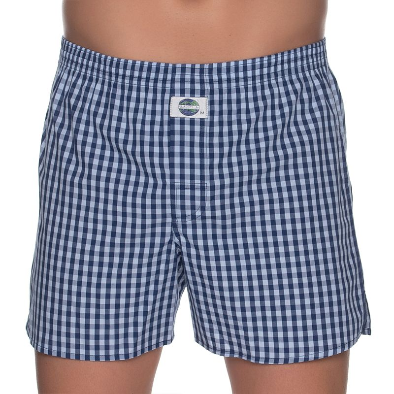 DEAL boxershort check donkerblauw wit