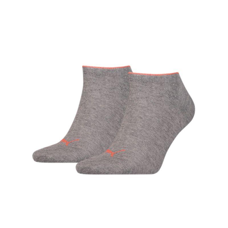Puma 2 paar sneaker sokken lurex grijs