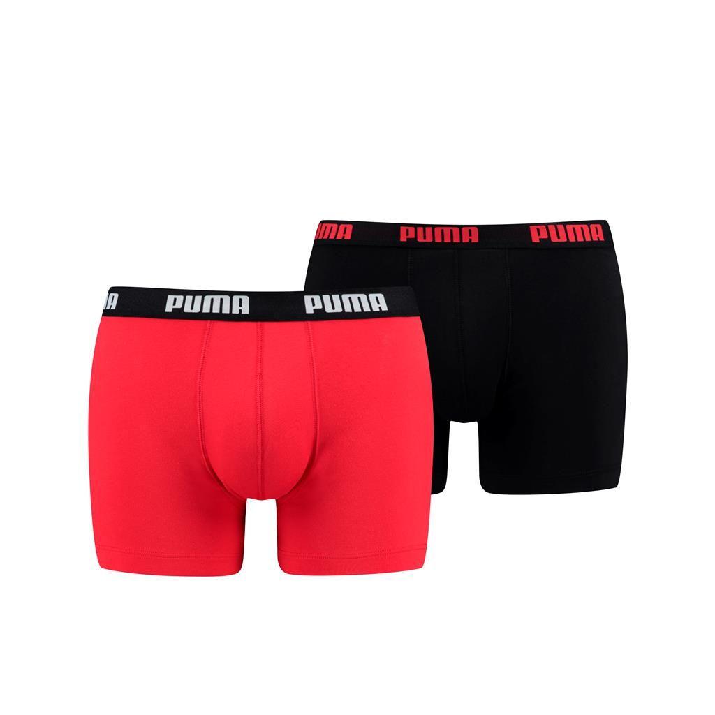 Puma 2-pack heren boxershort Basic - rood zwart