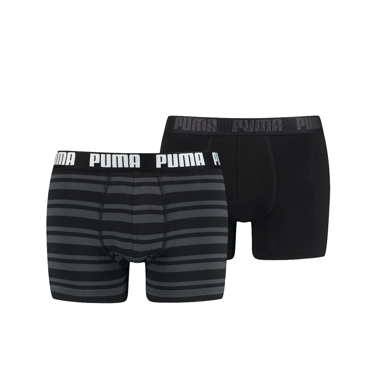 Puma 2-pack boxershorts stripes - zwart grijs