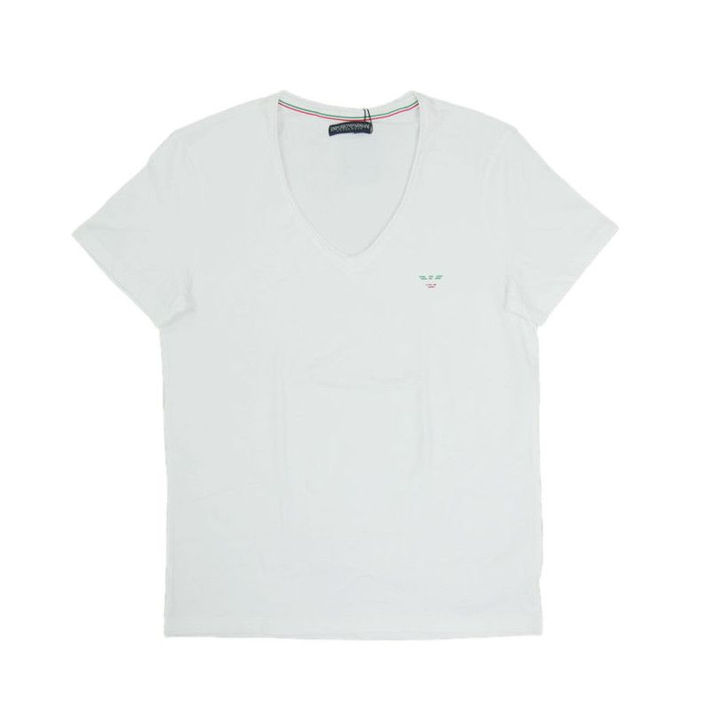 Emporio Armani t-shirt wit V Hals