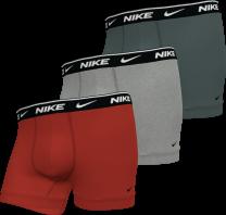 3-pack trunk boxershorts heren rood/grijs/donkergrijs - M1M