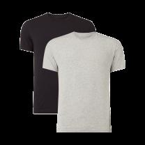 Nike 2-pack t-shirts crew neck mannen zwart/grijs