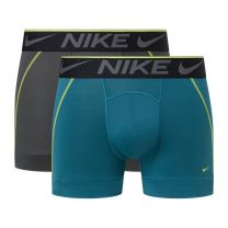Nike 2-pack trunk boxershorts mannen - grijs/aqua - PPT