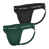 Calvin Klein 2-pack heren jockstrap groen/zwart - ME5