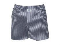 Deal Boxershort, Check Stripe Grey 100%