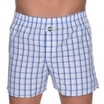 DEAL boxershort check blauw/wit