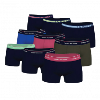 Tommy Hilfiger 9-pack boxershorts - rood/blauw/paars