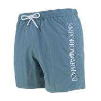 Emporio Armani zwemshort side logo - artico blauw