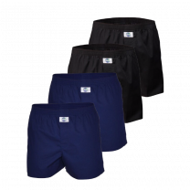Deal 4-pack boxershorts - donkerblauw/zwart