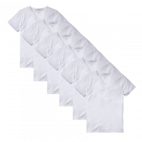 Tommy Hilfiger 6-pack t-shirts v-neck premium essentials - wit