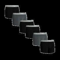 Emporio Armani 6-pack boxershorts brief - zwart/antraciet