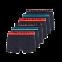 Hugo Boss 6-pack boxershorts trunk - blauw/rood