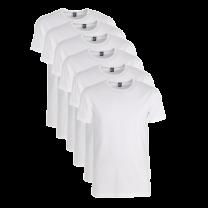 Alan Red 6-pack t-shirts Ottawa, crew neck - wit