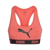 Puma Bralette Puma logo koraalkleur racer back