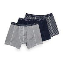 Scotch & Soda 3-pack boxershorts gestreept & blauw