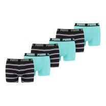 Puma 6-pack boxershorts Gradient stripes - blauw
