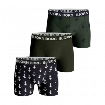 Björn Borg 3-pack boxershorts Anchor Cotton Stretch