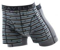 Cavello 2-pack boxershort grijs met muizenprint