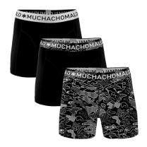 Muchachomalo 3-pack boxershorts - print/zwart