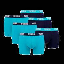 Puma 6-pack heren boxershort Basic - lichtblauw/blauw
