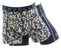 Cavello 2-pack boxershort mozaïekprint en royal blue