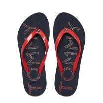 Tommy Hilfiger dames teenslippers - rood/blauw