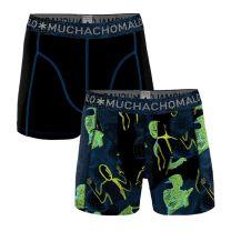 Muchachomalo 2-pack boys boxershorts off the grid zwart