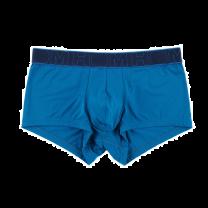 HOM trunk microfiber soft boxershort - petrol blauw