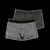 HOM 2-pack heren boxer brief - zwart/wit/khaki